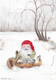 The gnome and his friend the fox - Christmas